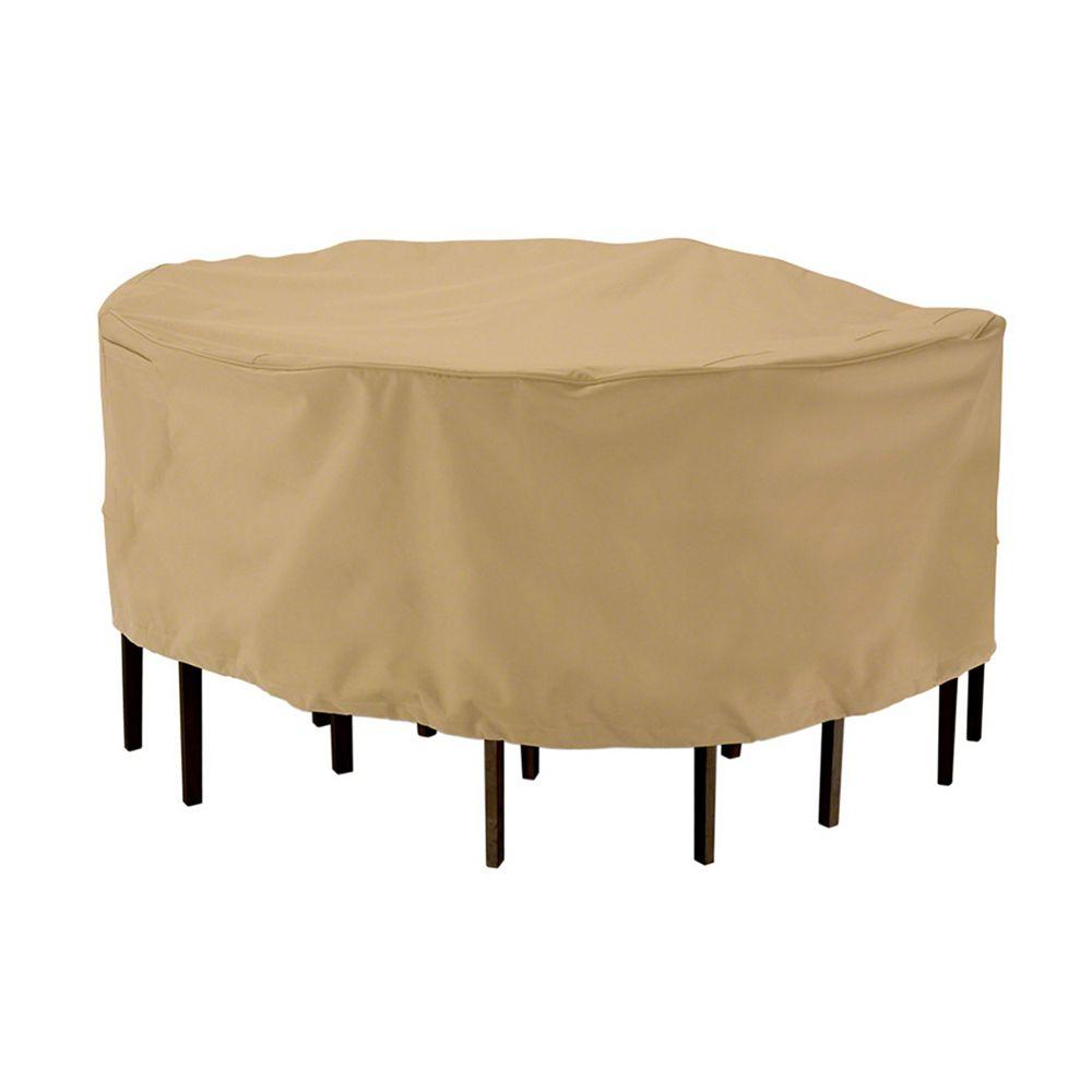 Classic Accessories Terrazzo Patio Table & Chair Set Cover, Round, Medium
