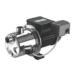 Bur-Cam Pompe à jet d'acier inoxydable 3/4 HP