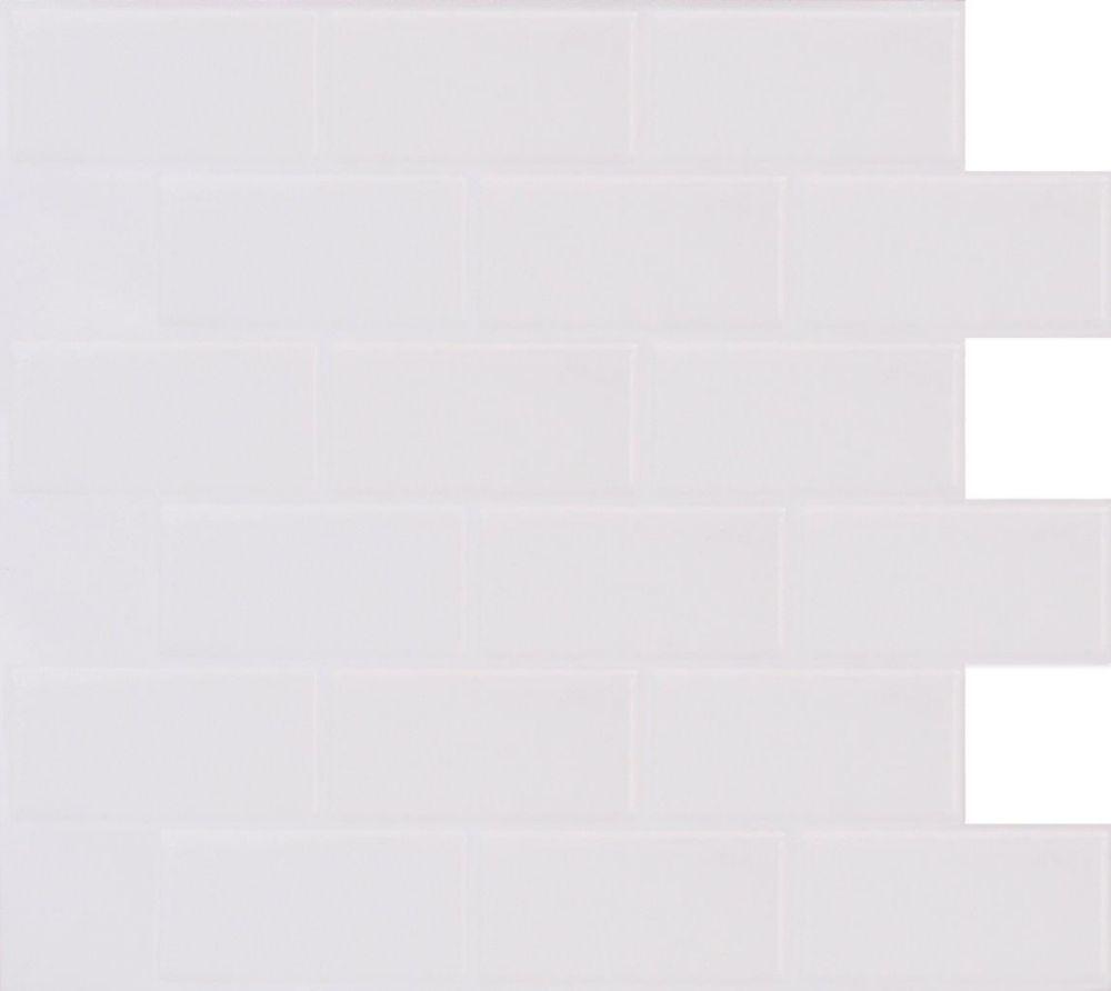White Subway Stick-It tile 11.25X10 Bulk pack (8 tiles)