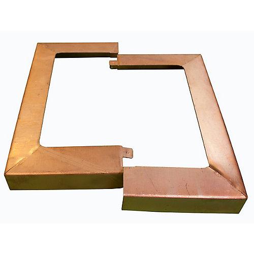 Copper Post Anchor Skirt Galvanized (4 Inch x 4 Inch)