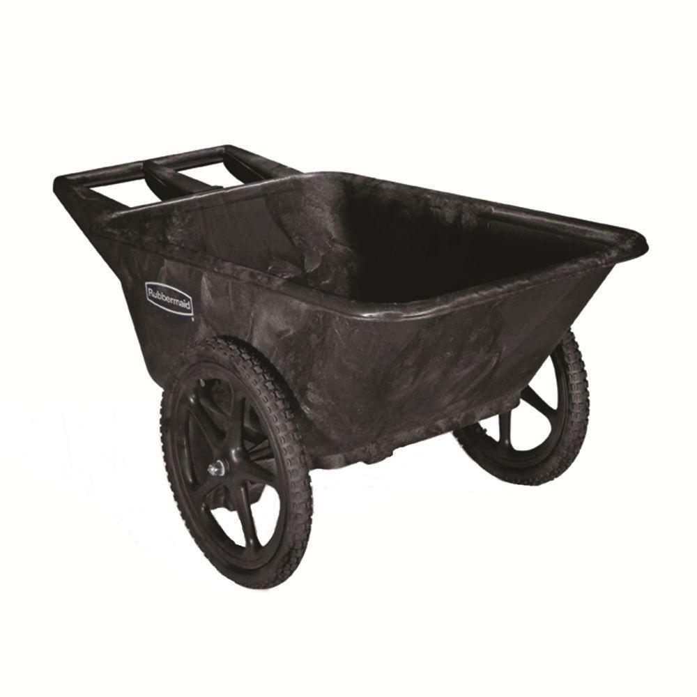 Rubbermaid Plastic Yard Cart -  7.5 Cubic Feet