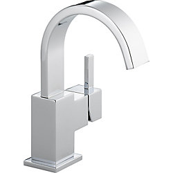 Vero Single Hole 1-Handle High Arc Bathroom Faucet with Lever Handle in Chrome