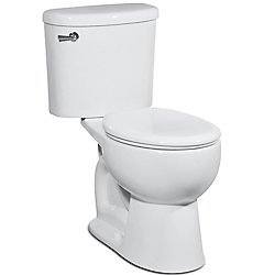 Icera USA The Palermo 1.0 2-Piece single Flush Toilet with Round Bowl (White)