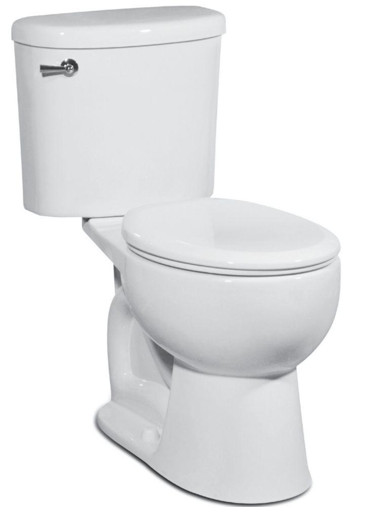 The Palermo 2-piece 4.8 LPF Single Flush Round Bowl Toilet in White