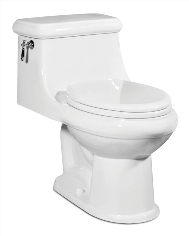 The Celebration 1-piece 4.8 LPF Single Flush Elongated Bowl Toilet in White