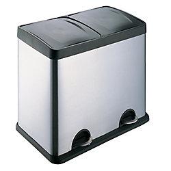 HQV 2-Compartment Waste/ Recycling Bin 30L