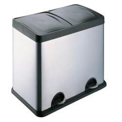 HQV Poubelle et bac de recyclage à 2 compartiments - En ligne seulement