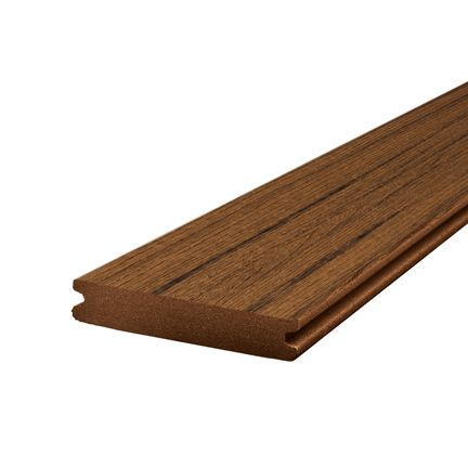 16 Ft. - Transcend Tropical Composite Capped Grooved Decking - Spiced Rum