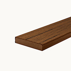 12 Ft. - Transcend Tropical Composite Capped Square Decking - Spiced Rum