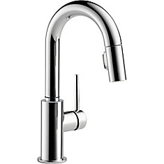 Trinsic Single Handle Pull-Down Bar Faucet, Chrome