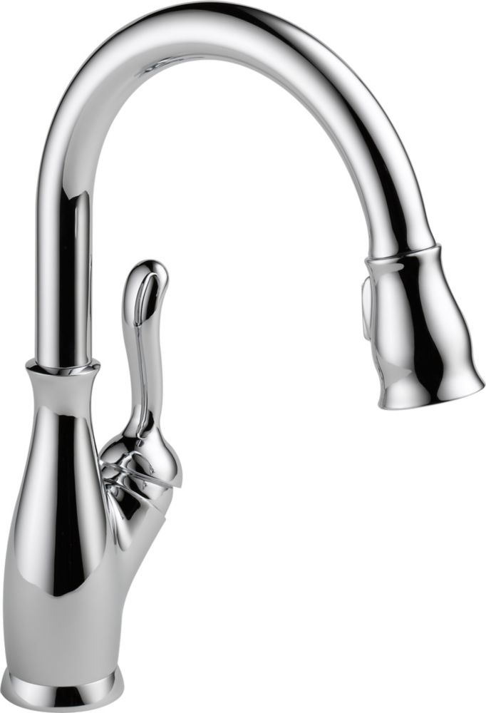 Leland Integrated Single-Handle Pull-Down Sprayer Kitchen Faucet in Chrome with MagnaTite Docking