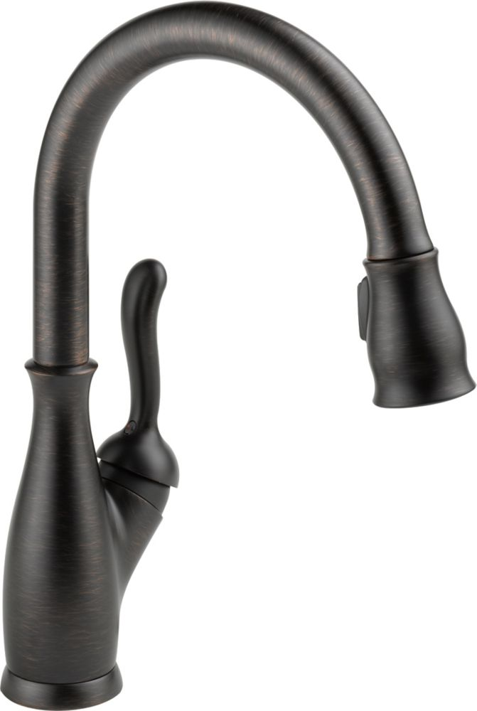Leland Integrated Single-Handle Pull-Down Sprayer Kitchen Faucet in Venetian Bronze with MagnaTit...