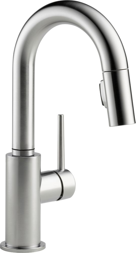 Trinsic Single-Handle Pull-Down Sprayer Kitchen Faucet in Arctic Stainless 9959-AR-DST Canada Discount