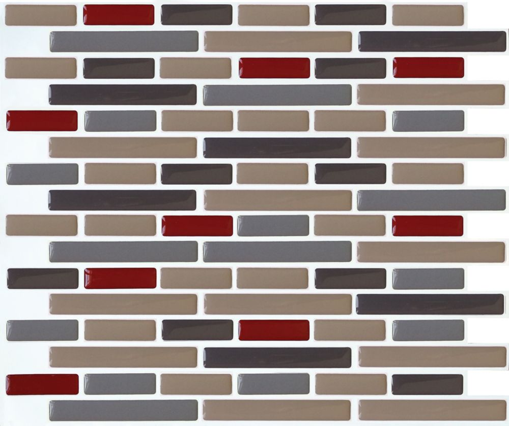 Taupe+ Oblong Stick-It tile 11X9.25 Bulk Pack (8 Tiles)