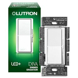 Lutron Diva 150-Watt Single Pole/3-Way CFL/LED Dimmer - White