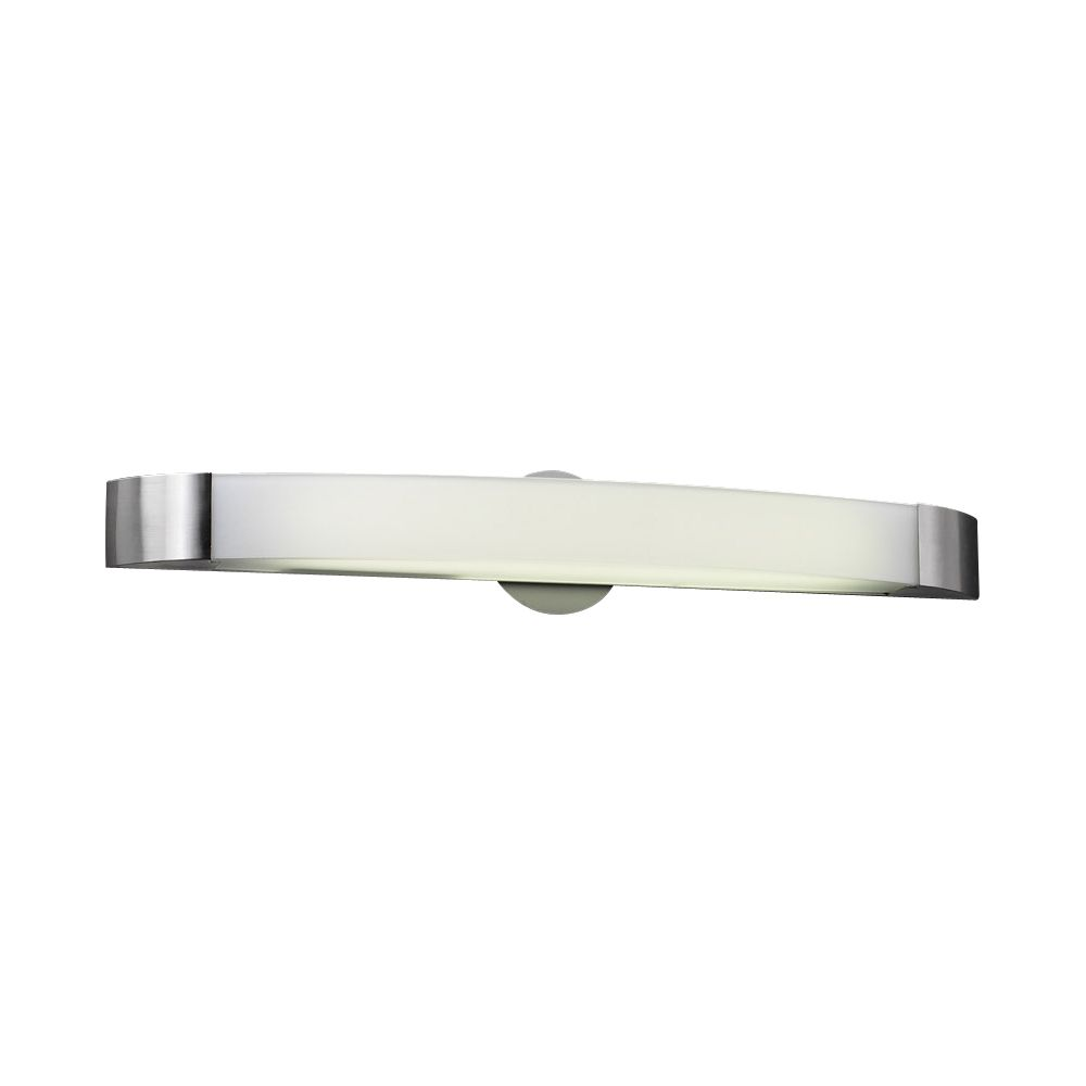 1 Light Bath Light with Frost Glass and Satin Nickel Finish