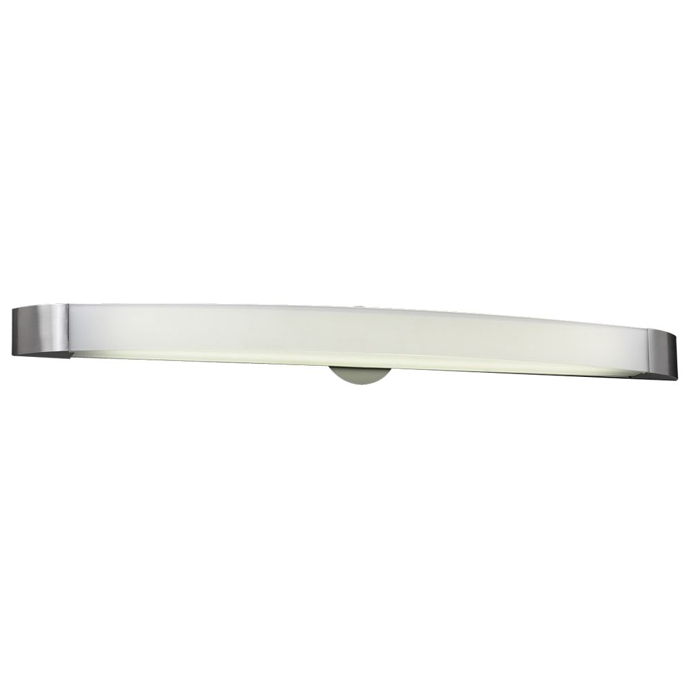 2 Light Bath Light with Frost Glass and Satin Nickel Finish