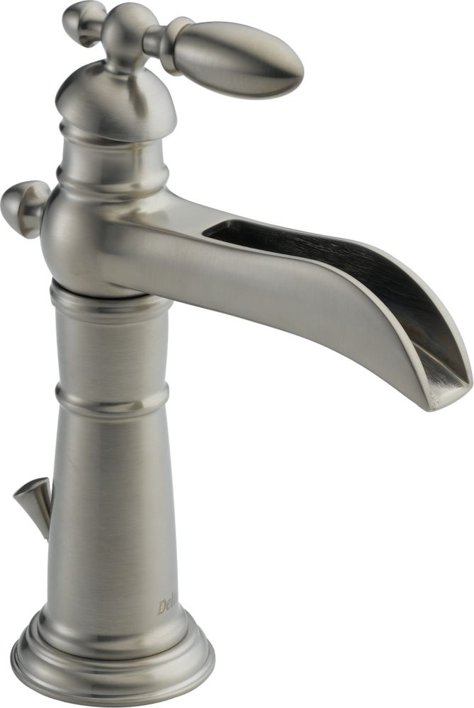 Victorian Single Hole Single-Handle High-Arc Bathroom Faucet in Stainless Finish