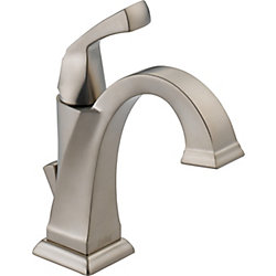 Dryden Single Hole 1-Handle High Arc Bathroom Faucet in Stainless Steel with Lever Handle