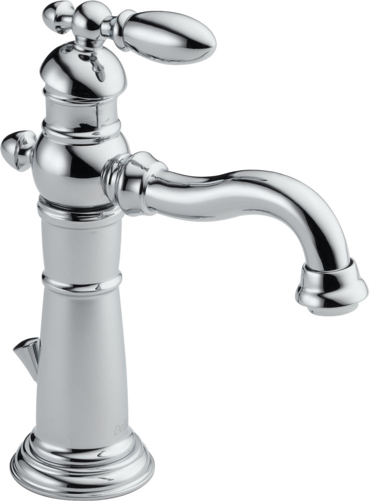 Delta Victorian Single Hole 1-Handle High Arc Bathroom Faucet in Chrome with Lever Handle