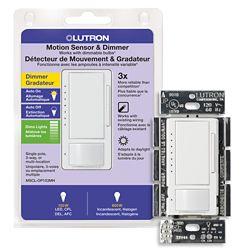 Lutron Maestro 150 Watt Single Pole/3-Way CFL/LED Occupancy Sensing Dimmer - White