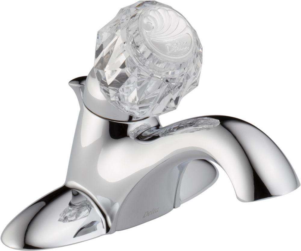 Classic 4-inch Single-Handle Low-Arc Bathroom Faucet in Chrome Finish