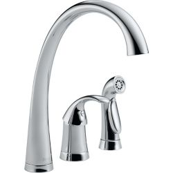 Delta Pilar Waterfall Single-Handle Side Sprayer Kitchen Faucet in Chrome