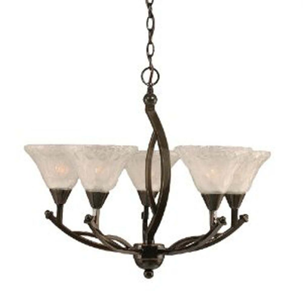Concord 5-Light Ceiling Onyx Chandelier with a Clear Crystal Glass