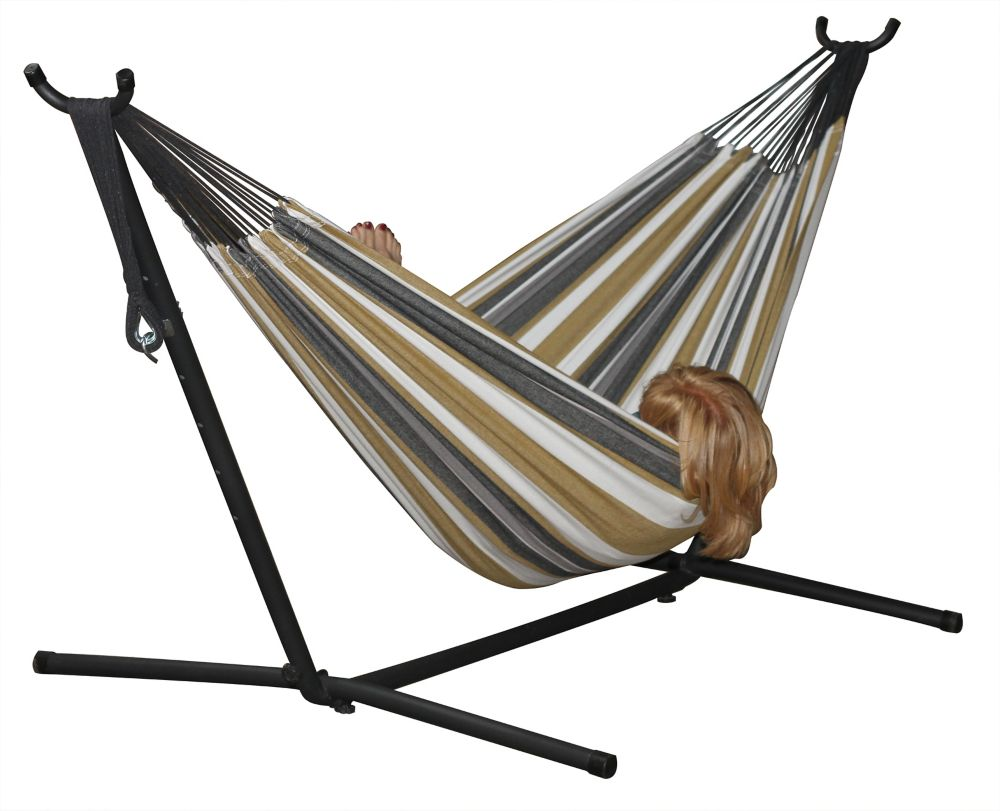 8 ft. Combo Double Hammock with Stand in Desert Moon
