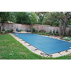 12 ft. x 24 ft. Green Mesh Pool Safety Cover