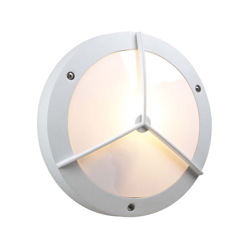 Contemporary Beauty 1 Light Outdoor Wall Sconce with Matte Opal Glass and White Finish