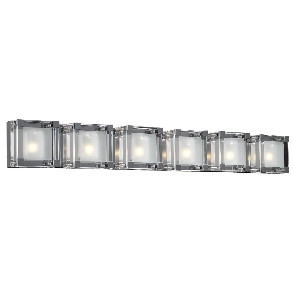 Contemporary Beauty 3 Light Bath Light with Clear Glass and Polished Chorme Finish