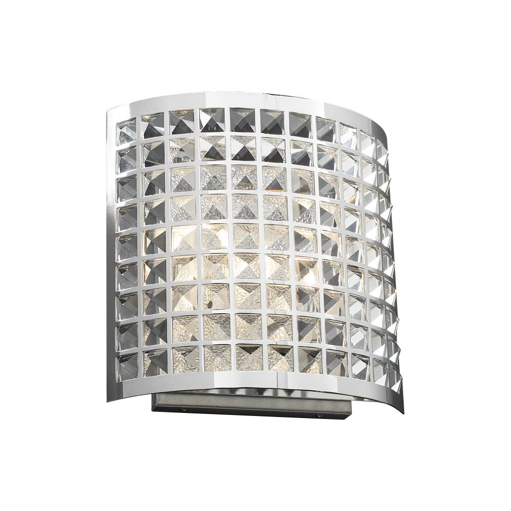 Contemporary Beauty 2 Light Sconce with Clear Glass and Polished Chorme Finish