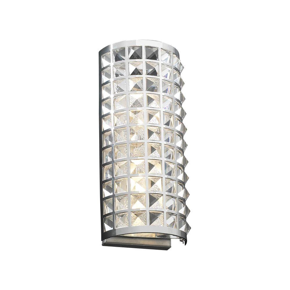 Lumière Contemporary Beauty fixée au mur à deux ampoules avec abat-jour clair, finition de spécia...