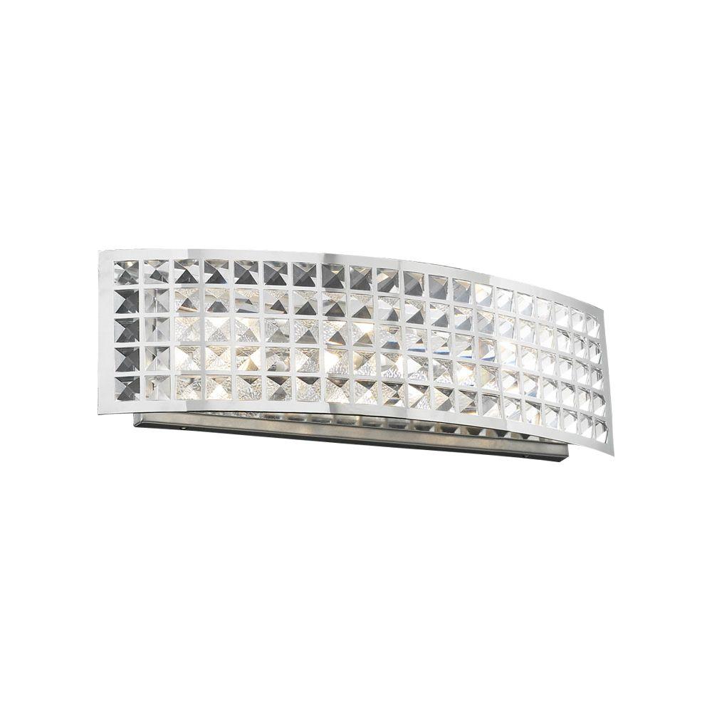 Lumière Contemporary Beauty fixée au mur à trois ampoules avec abat-jour clair, finition de spéci...