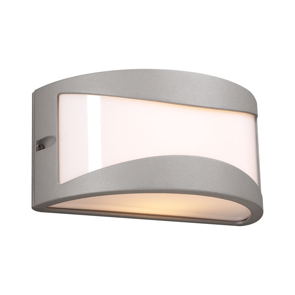1 Light Outdoor Wall Sconce with Matte Opal Glass and Slate Finish