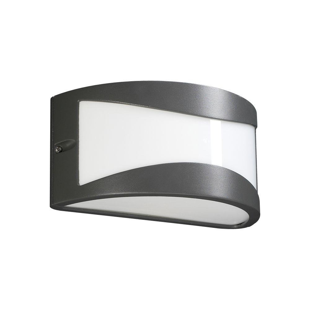 1 Light Outdoor Wall Sconce with Matte Opal Glass and Bronze Finish