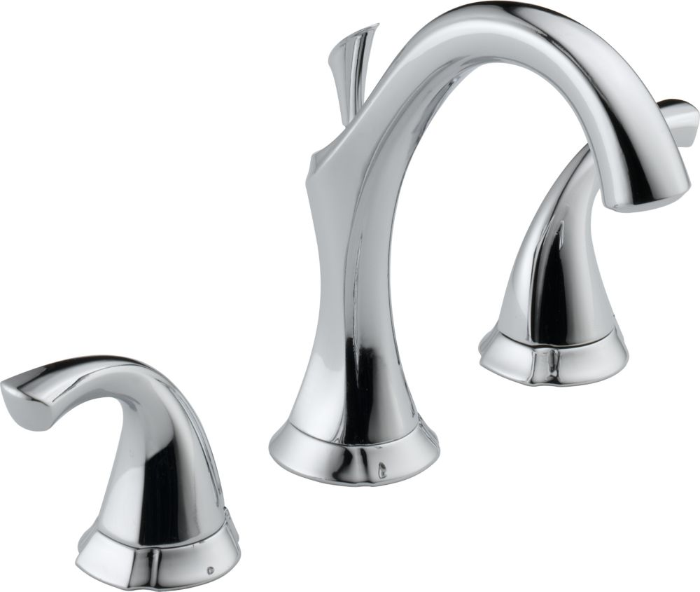 Addison 8-inch Widespread 2-Handle Bathroom Faucet with Metal Pop-up Assembly in Chrome Finish