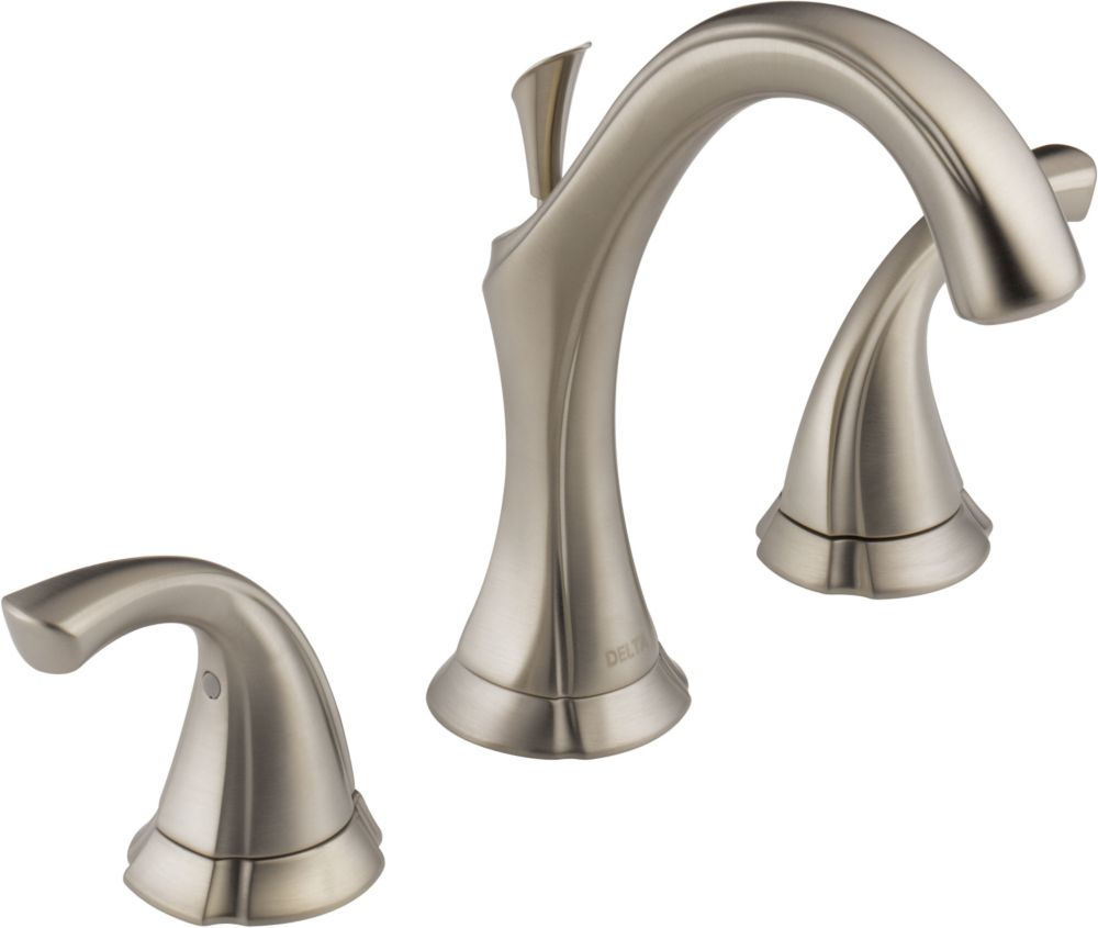 Addison 8-inch Widespread 2-Handle High-Arc Bathroom Faucet in Stainless Finish