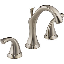 Delta Addison Widespread (8-inch) 2-Handle High Arc Bathroom Faucet in Stainless Steel with Lever Handles