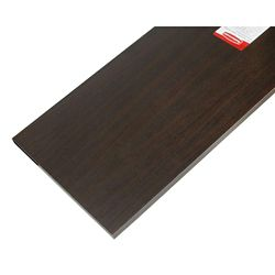 Rubbermaid 12-inch x 48-inch Wood Shelf in Espresso