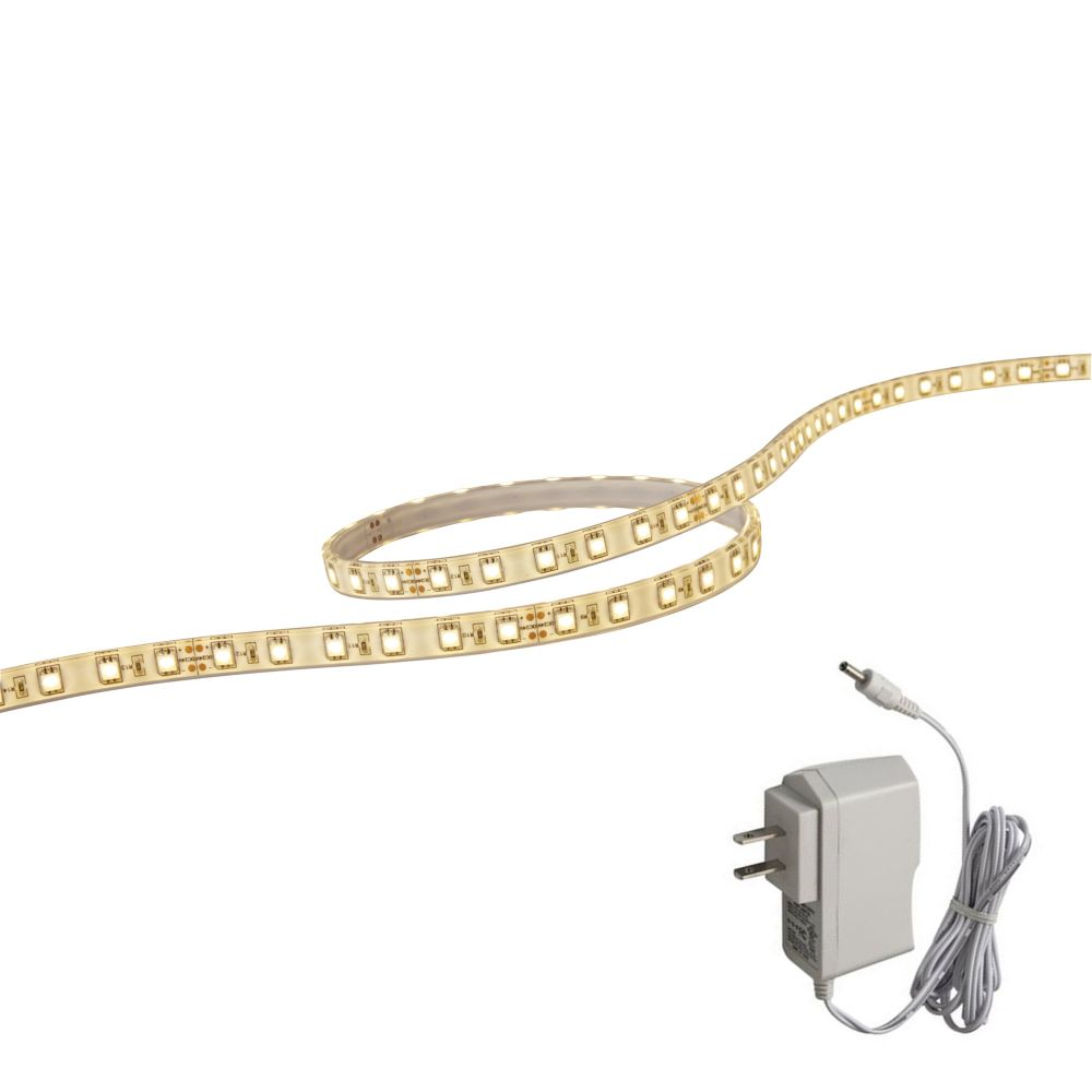 118 Inches (3M) White LED FlexTape With Plug In Dirver