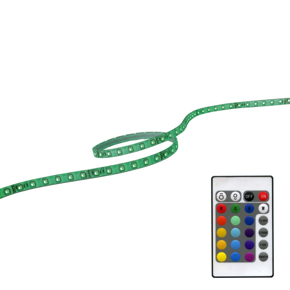 39 Inches (1M) RGB LED FlexTape With Plug In Dirver, Remote And Controller