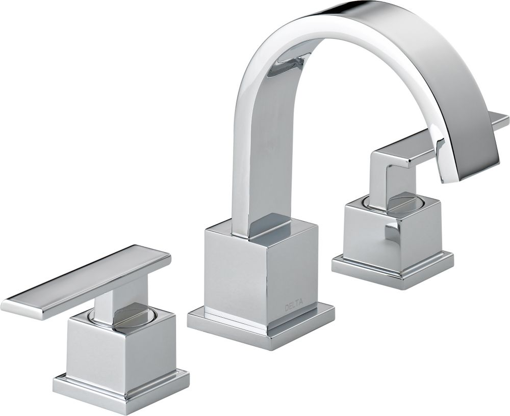Vero 8-inch Widespread 2-Handle High-Arc Bathroom Faucet in Chrome Finish