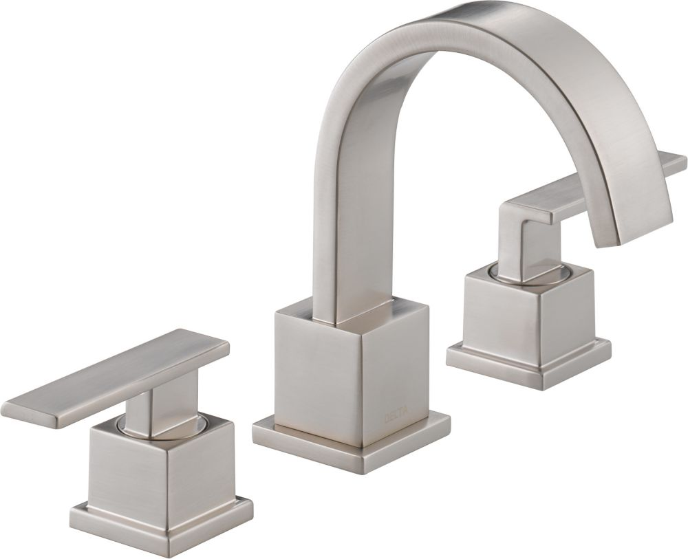 Vero 8-inch Widespread 2-Handle High-Arc Bathroom Faucet in Stainless Finish
