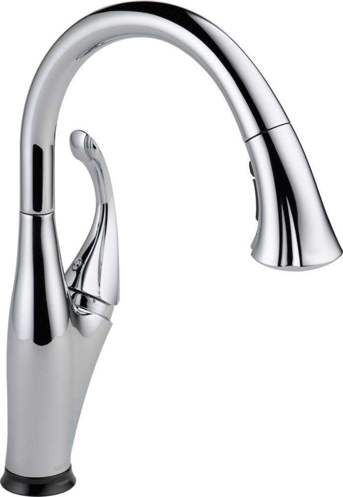 Addison Single-Handle Pull-Down Sprayer Kitchen Faucet in Chrome with Touch2O Technology and Magn...