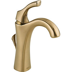 Delta Addison Single Hole 1-Handle High Arc Bathroom Faucet in Bronze with Lever Handle