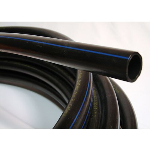 IPEX HomeRite Products Poly Pipe 1 Inch X 100 Feet 100PSI Blue Stripe