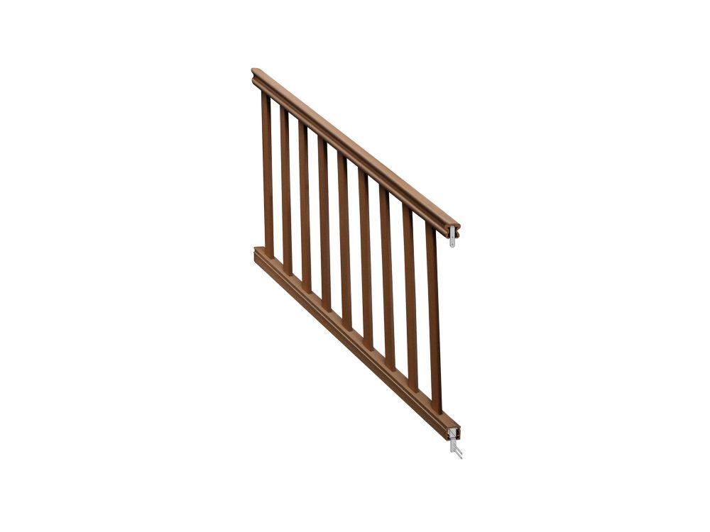 36 ins x 6 feet  Chestnut traditional stair rail kit