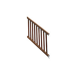 Eon 36 ins x 6 feet  Chestnut traditional stair rail kit
